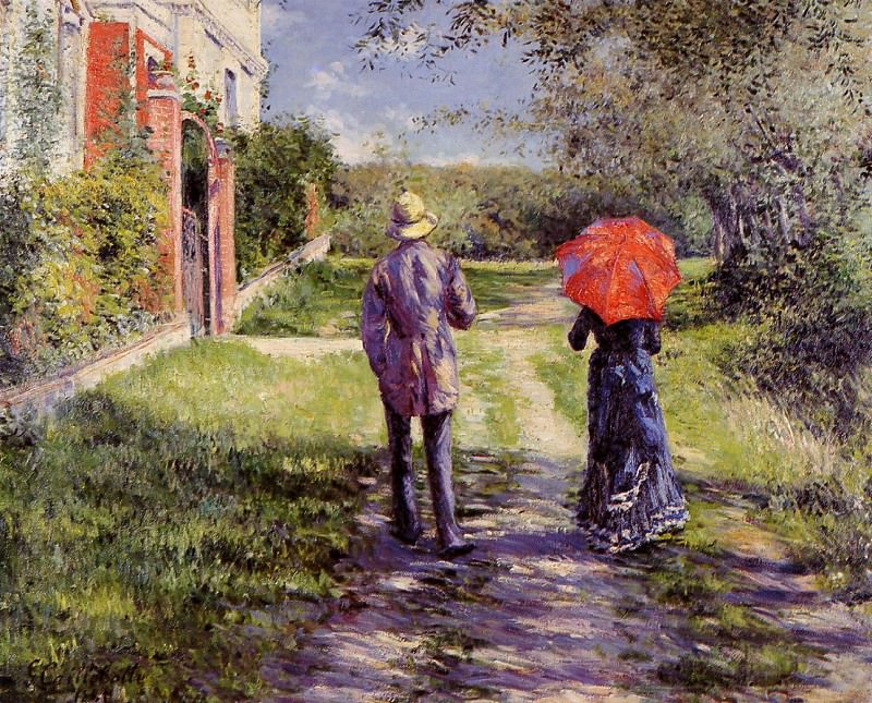 Rising Road - 1881. Gustave Caillebotte