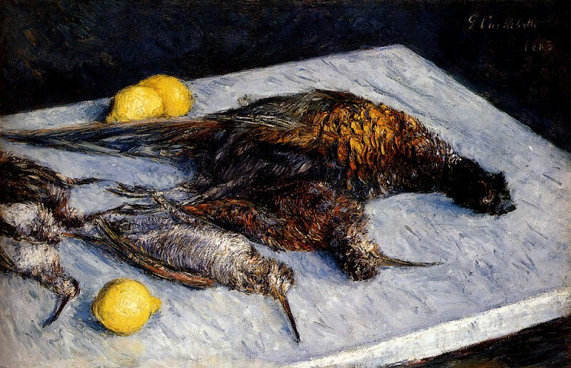 Game Birds And Lemons. Gustave Caillebotte