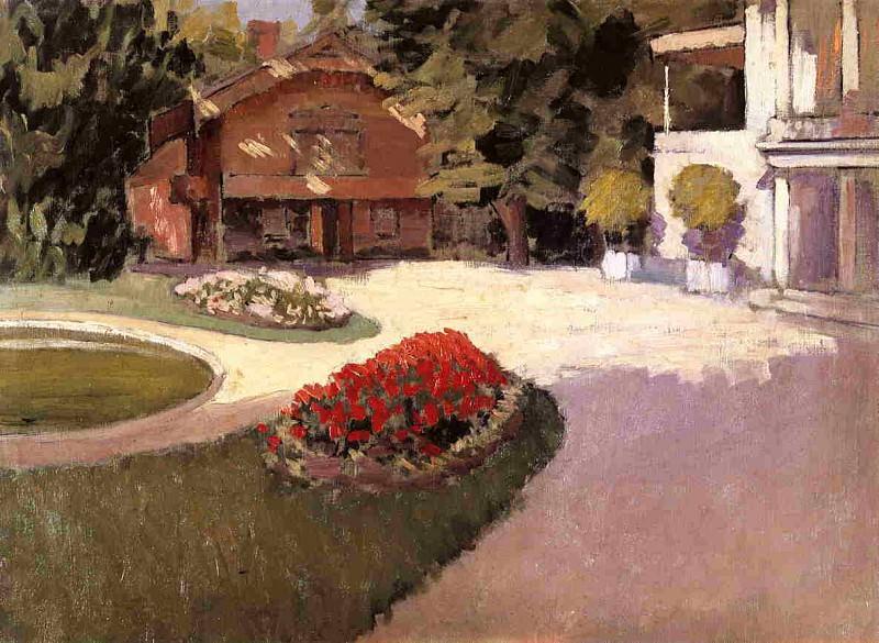 Garden at Yerres - 1876. Gustave Caillebotte