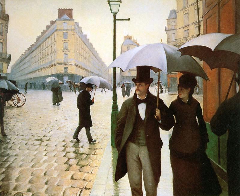 Paris place de l Europe. Gustave Caillebotte