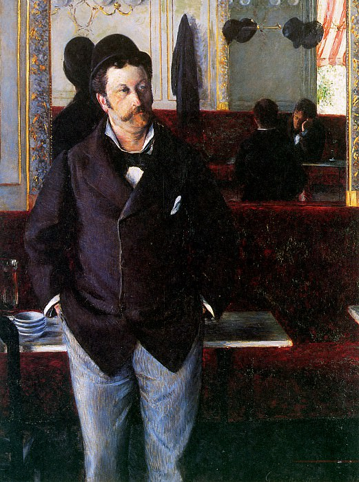 In the cafe. Gustave Caillebotte