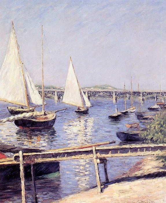 Sailboats in Argenteuil - 1888. Gustave Caillebotte