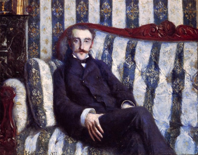 Portrait of a Man - 1877. Gustave Caillebotte