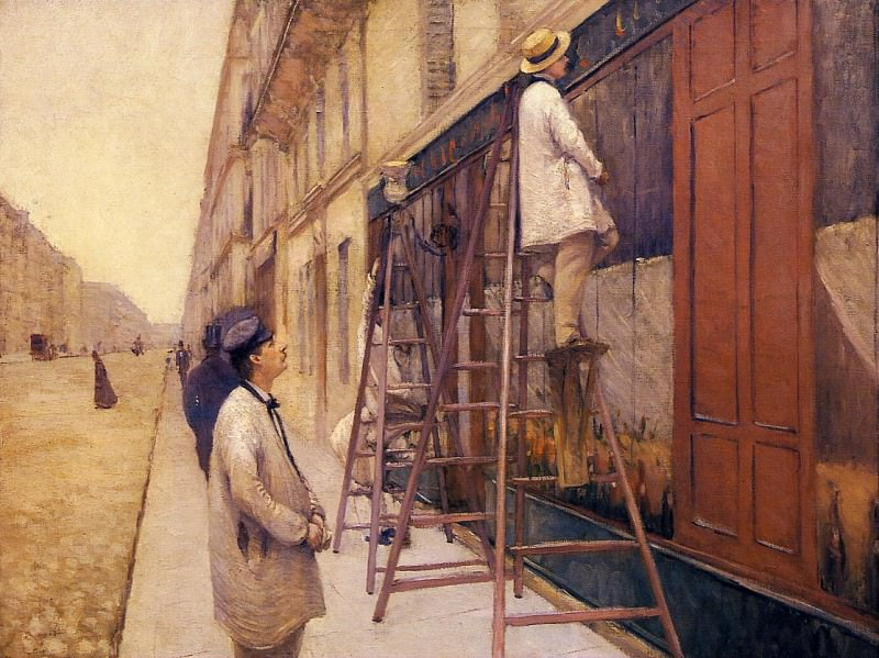 The House Painters - 1877. Gustave Caillebotte