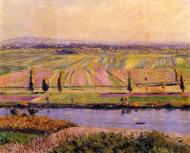 Равнина Жанвийе - вид со склонов Аржантея. Гюстав Кайботт