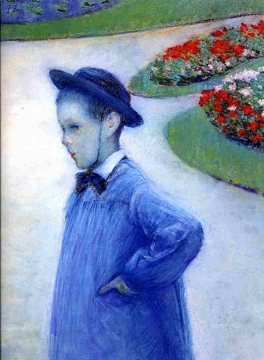 Camille Daurelle in the Park at Yerres - 1877. Gustave Caillebotte