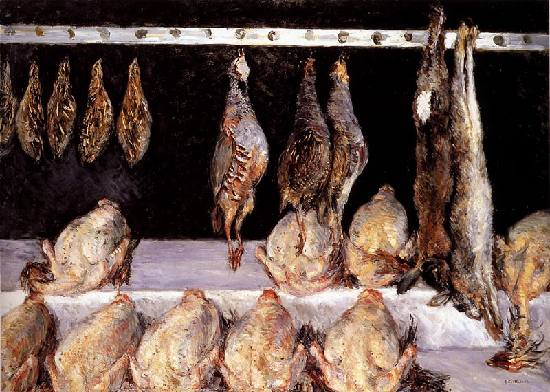 Display Of Chickens And Game Birds. Gustave Caillebotte