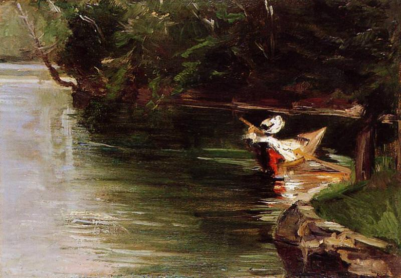 Banks of the Yerres - 1878. Gustave Caillebotte