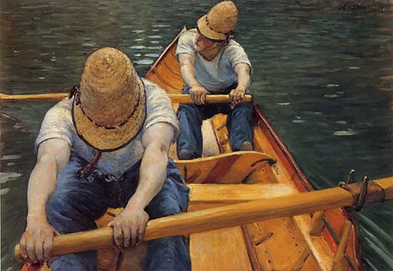 The Oarsmen - 1877. Gustave Caillebotte