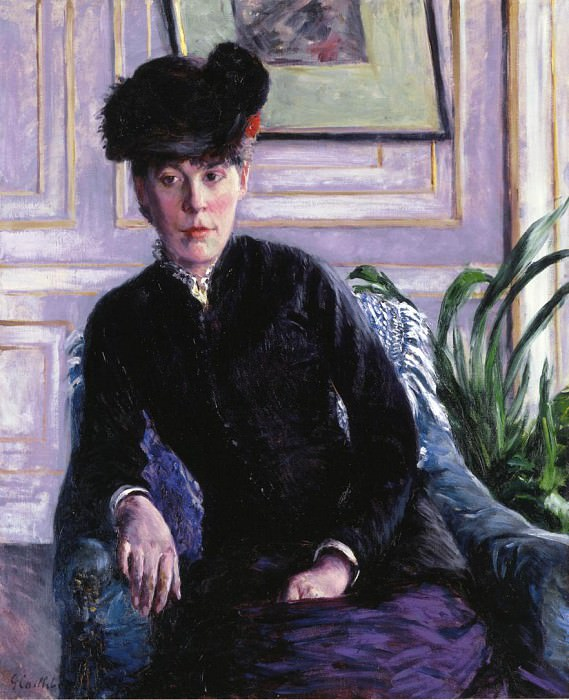 Portrait of a Young Woman in an Interior (also known as Portrait of Madame H) - 1877. Gustave Caillebotte