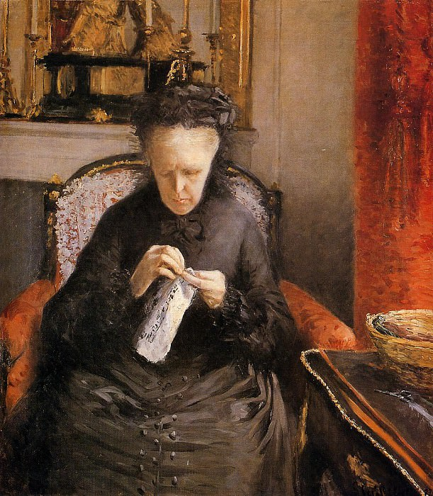 Portait of Madame Martial Caillebote the artist-s mother. Gustave Caillebotte