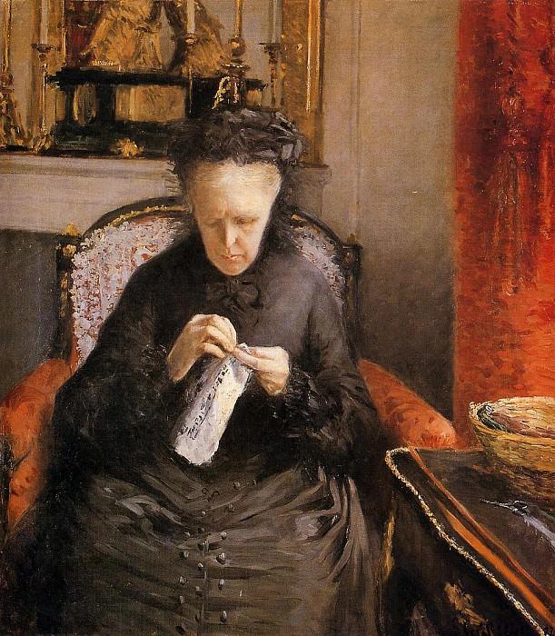 Мадам Марсьяль Кайботт, мать художника. Гюстав Кайботт