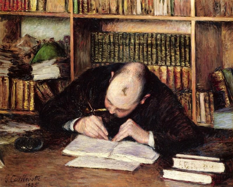 Portrait of a Man Writing in His Study - 1885. Gustave Caillebotte