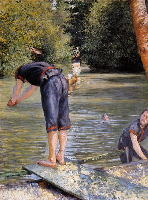 Bathers - 1878. Gustave Caillebotte