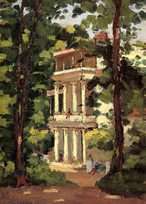 Yerres, Colonnade of the Casin. Gustave Caillebotte