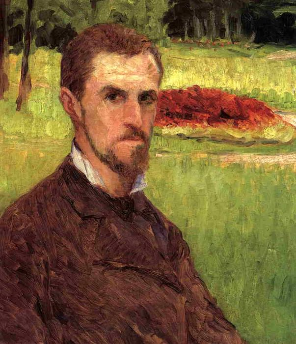 Self-Portrait in the Park at Yerres. Gustave Caillebotte