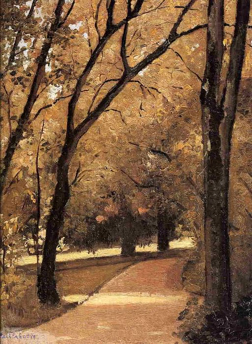 Yerres, Path Through the Old Growth Woods in the Park. Gustave Caillebotte