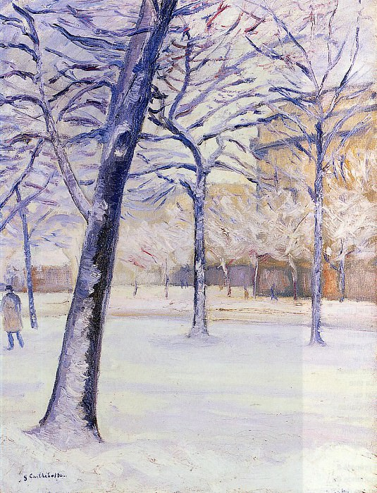 Park in the Snow, Paris - 1888. Gustave Caillebotte