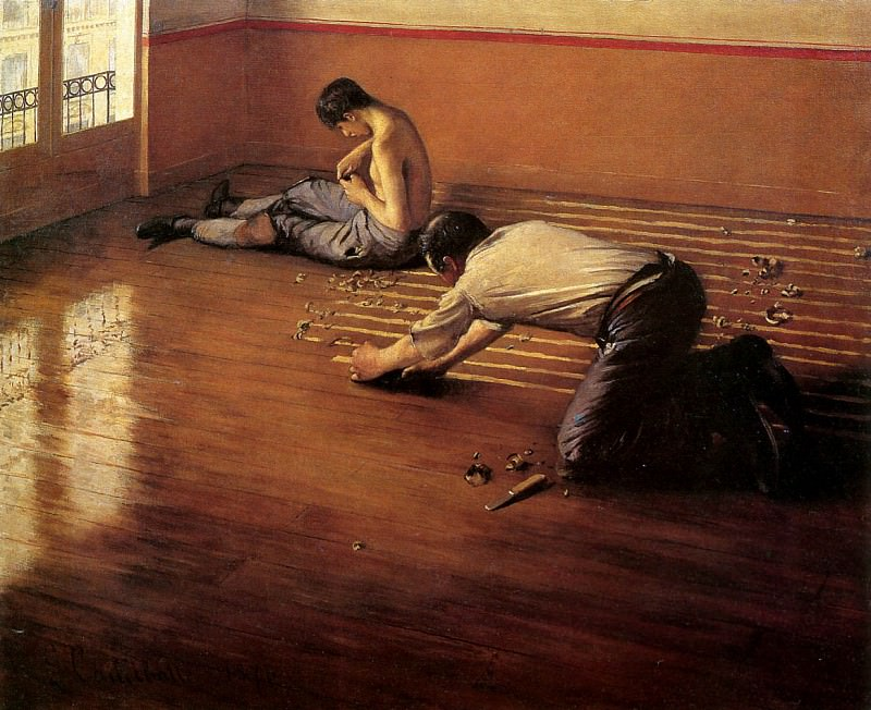 The floor scrapers. Gustave Caillebotte