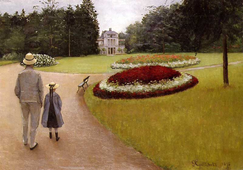 Caillebotte Gustave The Park on the Caillebotte Property at Yerres. Gustave Caillebotte