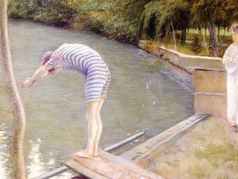 Bathers, Banks of the Yerres - 1877. Gustave Caillebotte