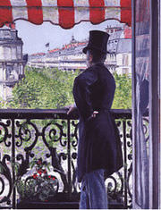The Man on the Balcony - 1880. Gustave Caillebotte