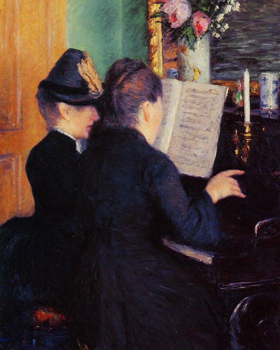 The Piano Lesson - 1881. Gustave Caillebotte