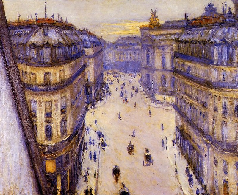 Rue Halevy Seen from the Sixth Floor. Gustave Caillebotte