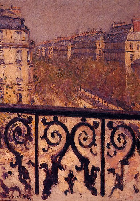 A Balcony in Paris - 1880 - 1881. Gustave Caillebotte
