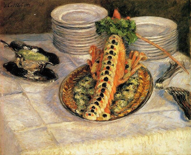 Still Life with Crayfish - 1880 - 1882. Gustave Caillebotte