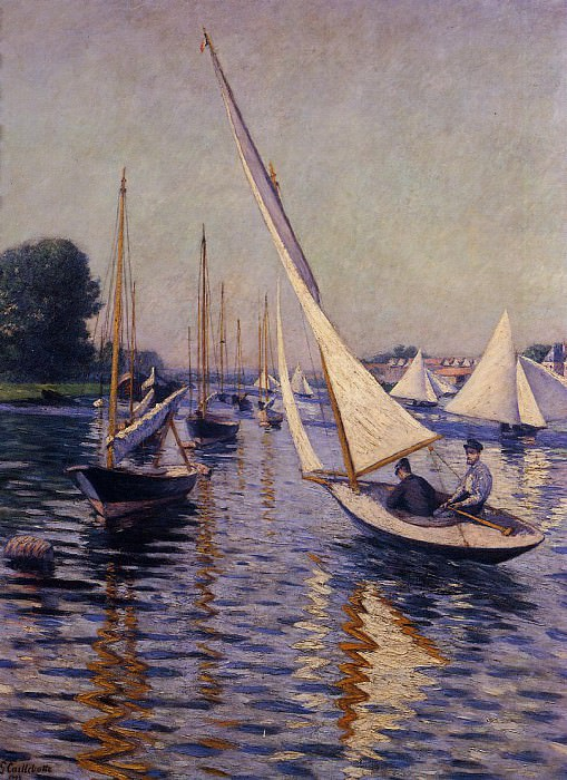 Regatta at Argenteuil - 1893. Gustave Caillebotte