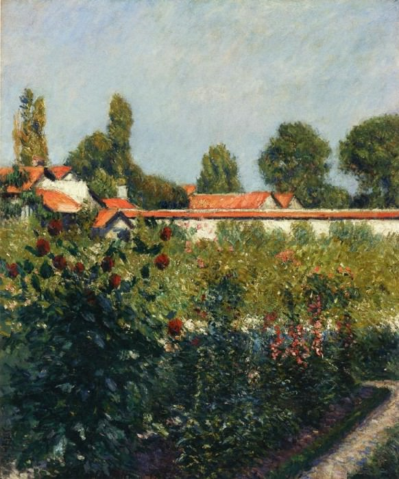 The Garden of Petit Gennevillers, the Pink Roofs - 1881. Гюстав Кайботт