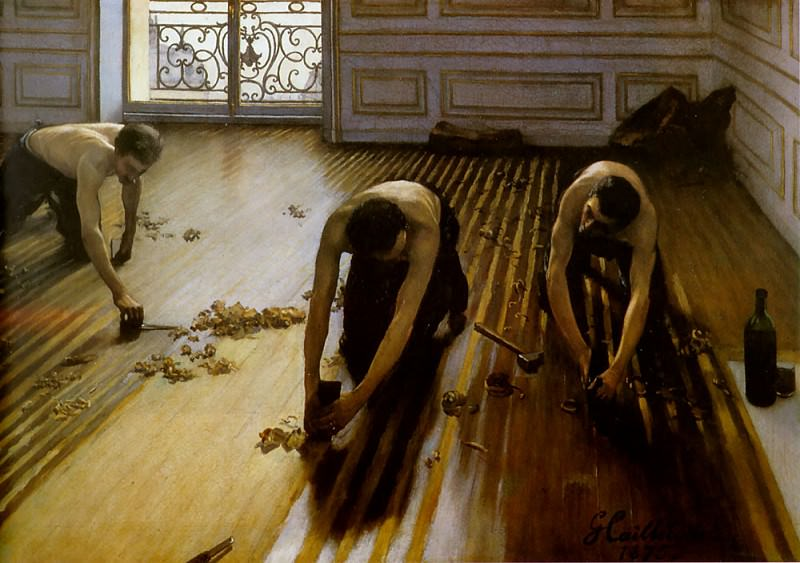 Floor Strippers. Gustave Caillebotte