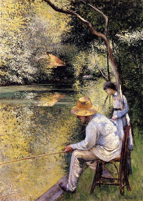 Fishing - 1878. Gustave Caillebotte