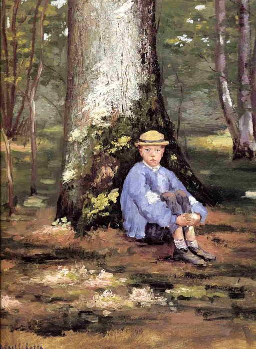 Yerres, Camille Daurelle under an Oak Tree. Gustave Caillebotte