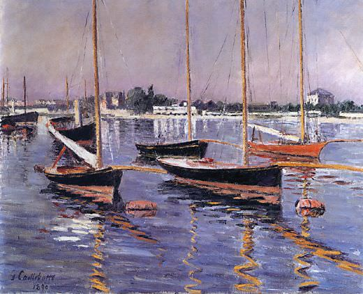 Boats on the Seine at Argenteuil - 1890. Гюстав Кайботт