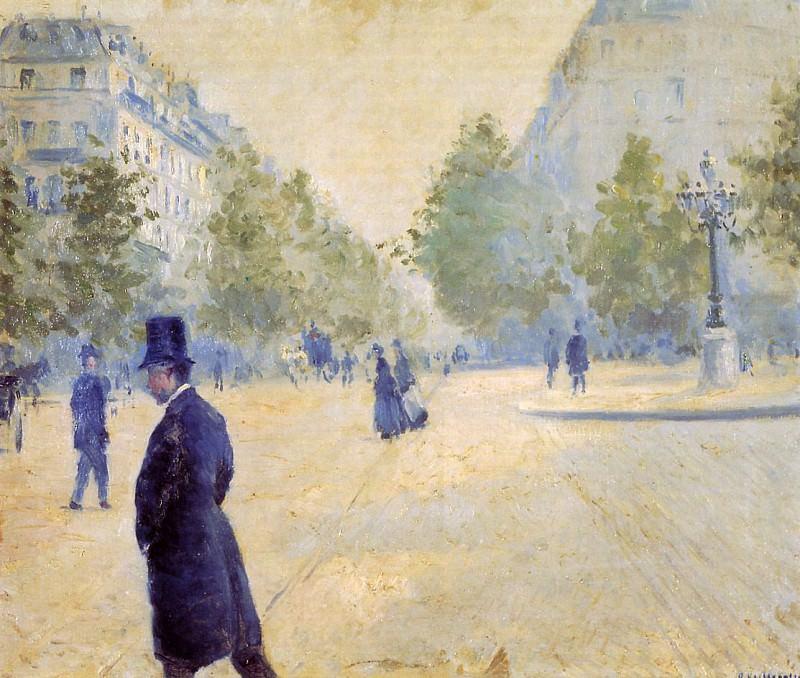 Place Saint-Augustin, Misty Weather - 1878. Гюстав Кайботт