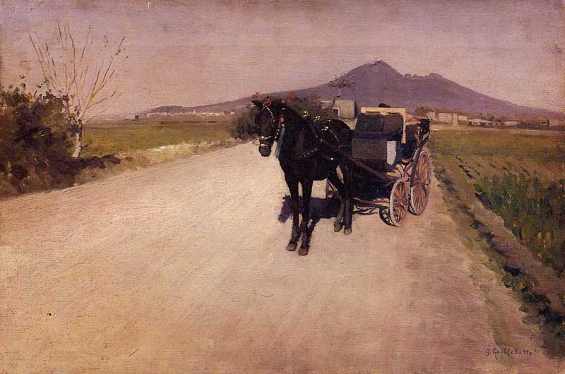 A Road Near Naples. Gustave Caillebotte
