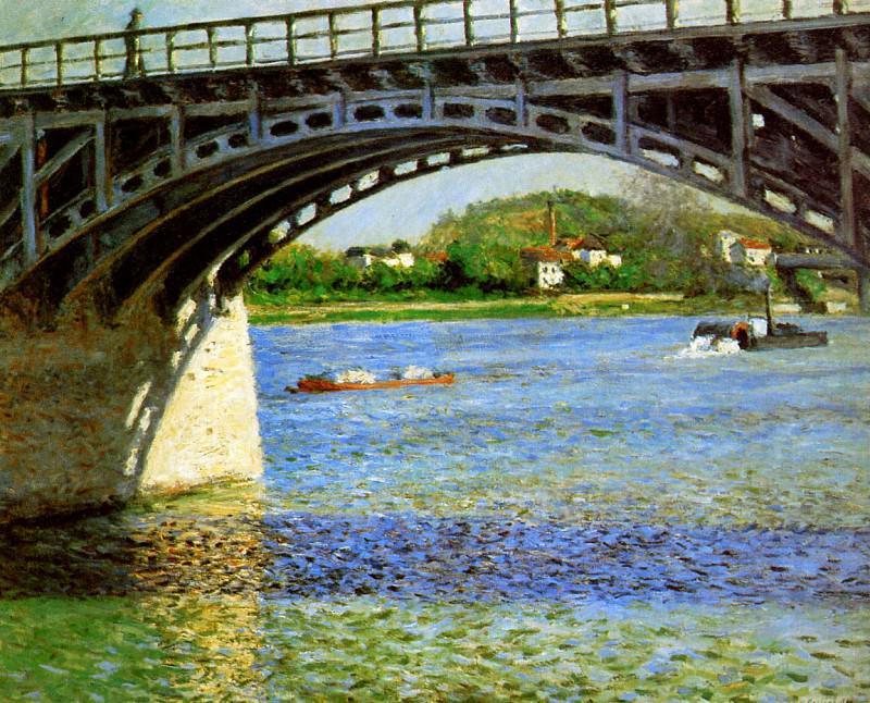 The bridge of Argentueil. Gustave Caillebotte