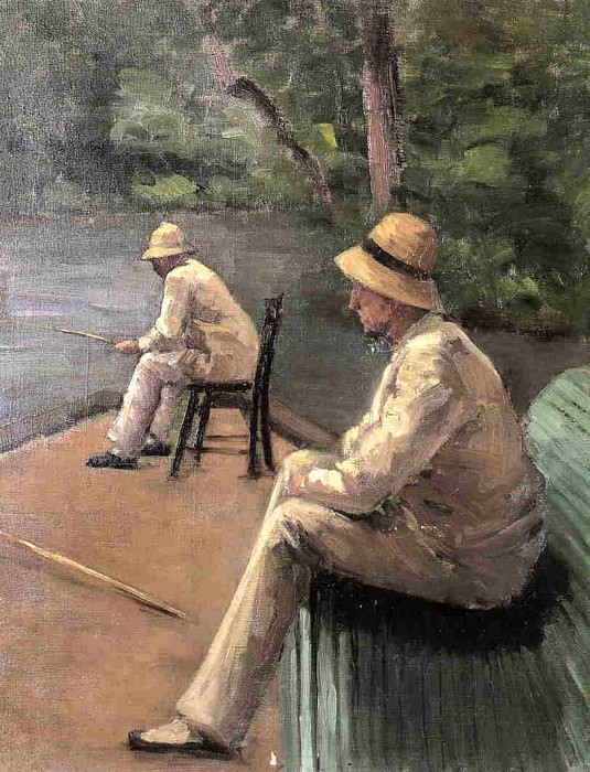 Fishermen on the Banks of the Yerres - 1876. Gustave Caillebotte