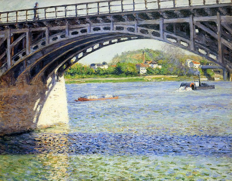 The Argenteuil Bridge and the Seine - 1883. Гюстав Кайботт