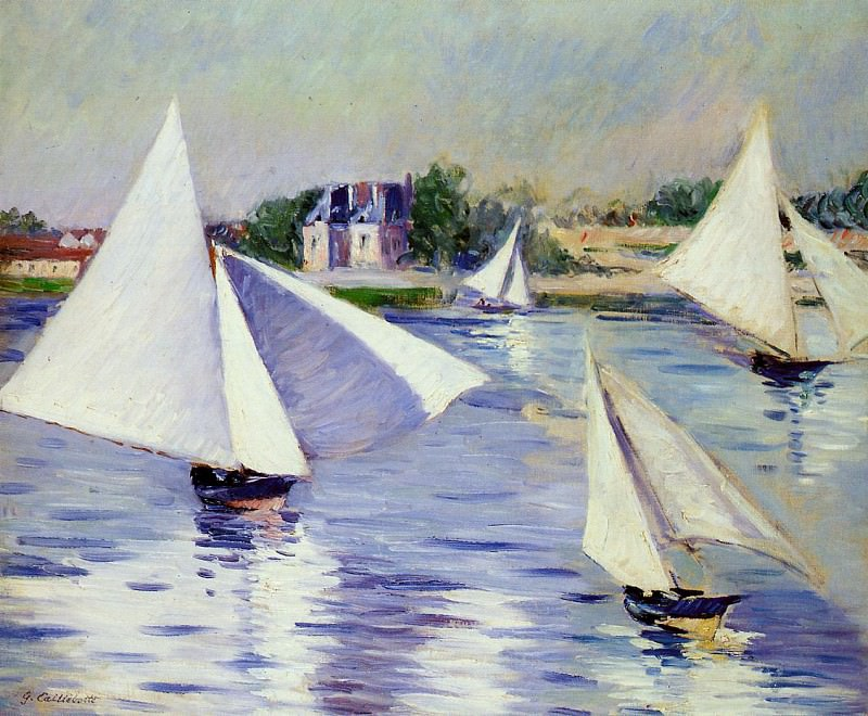 Sailboats on the Seine at Argenteuil - 1892. Гюстав Кайботт