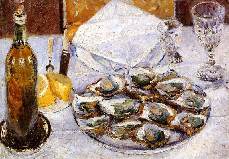 Still Life with Oysters - 1881. Gustave Caillebotte