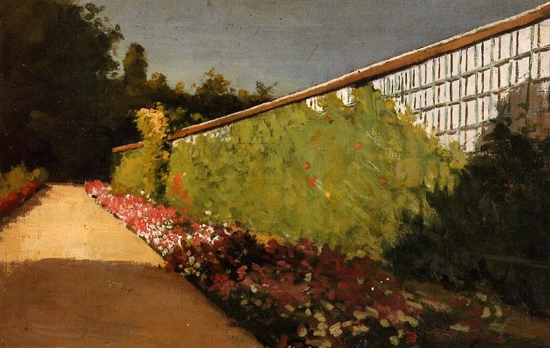 The Wall of the Kitchen Garden, Yerres - 1875 - 1877. Gustave Caillebotte