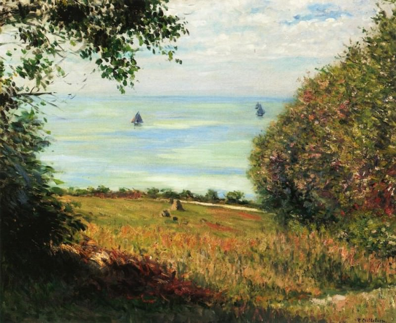 View of the Sea from Villerville (also known as sea scape) - 1882. Gustave Caillebotte