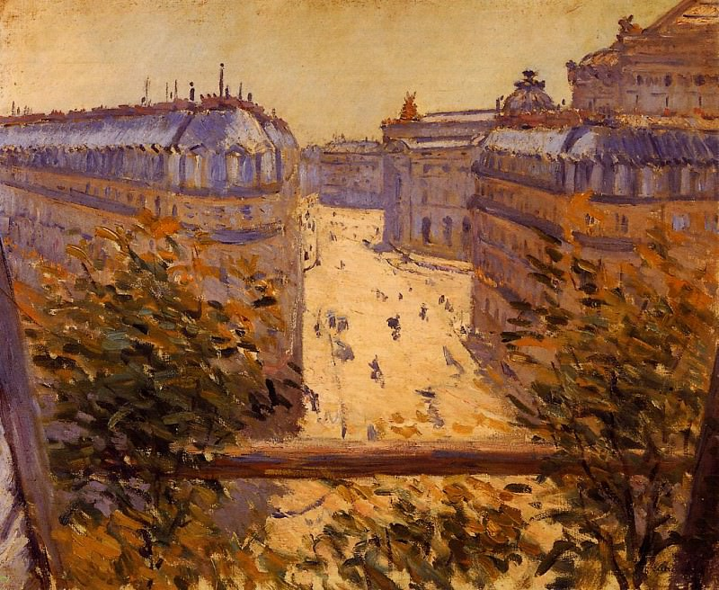 Rue Halevy, Balcony View - 1878. Gustave Caillebotte