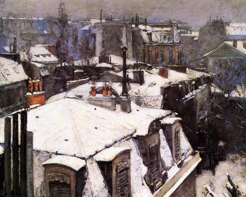 Rooftops Under Snow - 1878. Gustave Caillebotte