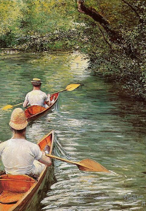 The peddelers. Gustave Caillebotte