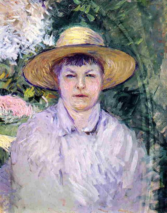 Portrait of Madame Renoir - 1888. Gustave Caillebotte