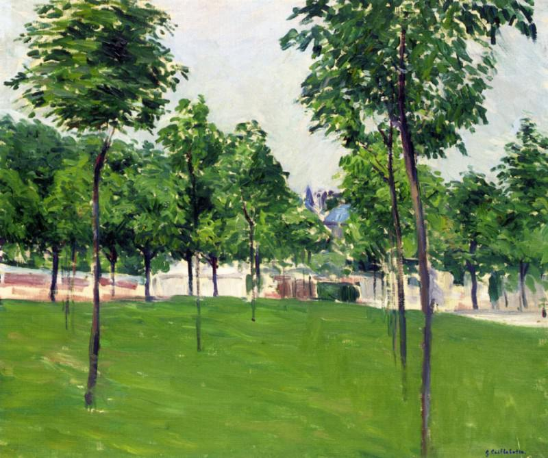 Promenade at Argenteuil - 1883. Гюстав Кайботт